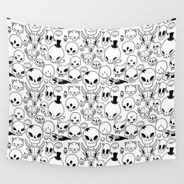 Skulls Wall Tapestry