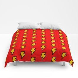 Cartoon Lightning Bolt pattern Comforters
