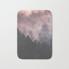 Forest of Trees with a Smoke Filled Sky Bath Mat
