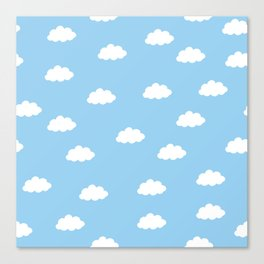 White clouds in blue background Canvas Print