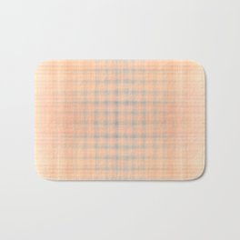 Pink and blue checked pattern Bath Mat