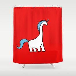 Cute Dinocorn (Unicorn Brachiosaurus) Shower Curtain