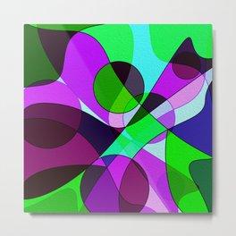 Abstract pattern Cuts Metal Print