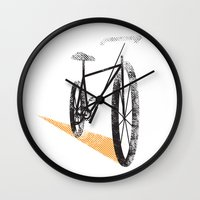 cycle Wall Clocks featuring Cycle by foureighteen