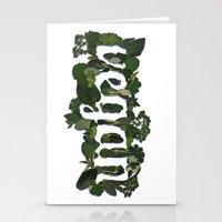 vegan Stationery Cards featuring Vegan by Kopie Creative
