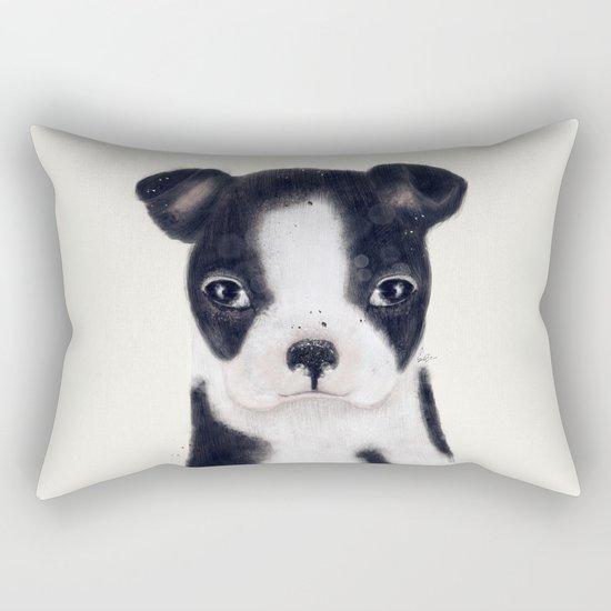 little boston terrier Rectangular Pillow