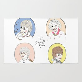 I Heart the Golden Girls Print Rug