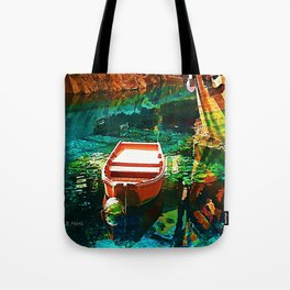 A Row Boat to Nowhere Tote Bag