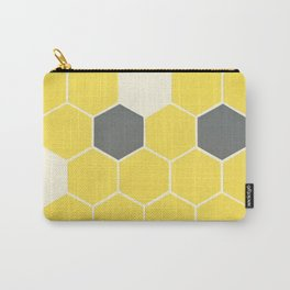 Yellow Honeycomb Carry-All Pouch