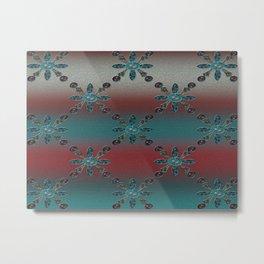 Teal Blue Redwood Metal Print