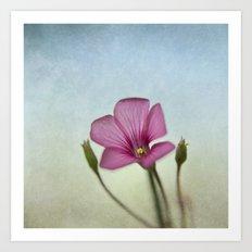 Happy lil Flower Art Print