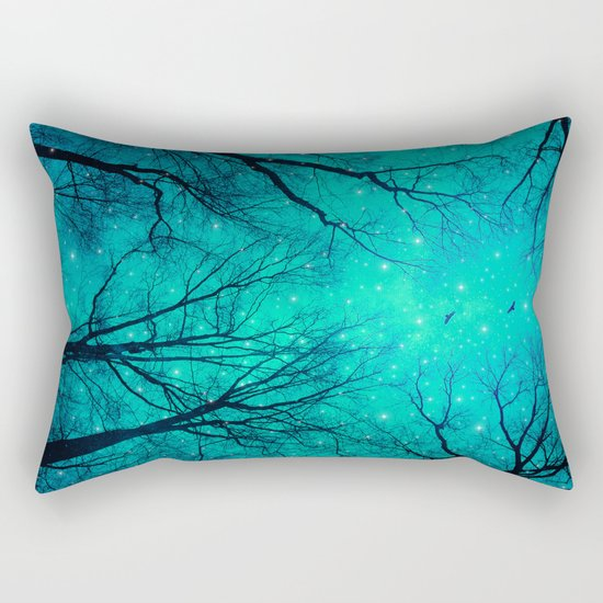 A Certain Darkness Is Needed II (Night Trees Silhouette) Rectangular Pillow