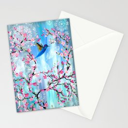 Hummingbird Design Stationery Cards