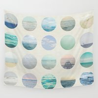 polka dot Wall Tapestries featuring Ocean Polka dot  by Pure Nature Photos