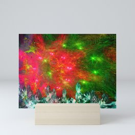 Psychedelic Christmas Light Show Mini Art Print