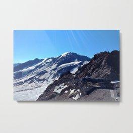 glacier end 3 kaunertal alps tyrol austria europe Metal Print