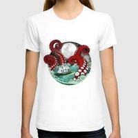 kraken T-shirts featuring Kraken by Beth Naeyaert