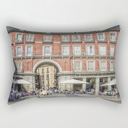 Relaxing cup in Plaza Mayor, Madrid Rectangular Pillow