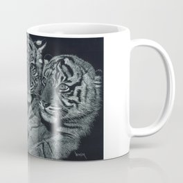Tiger Kittens Scratchboard by Don Winsor Coffee Mug