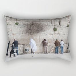 Praying at the Wailing Wall or Western Wall Rectangular Pillow