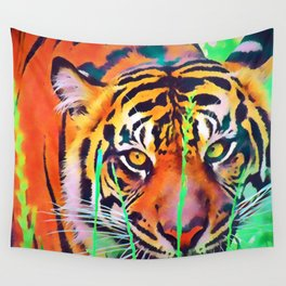 Watercolor Tiger Wall Tapestry