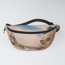 Skeletons Fighting portrait painting by James Ensor Fanny Pack