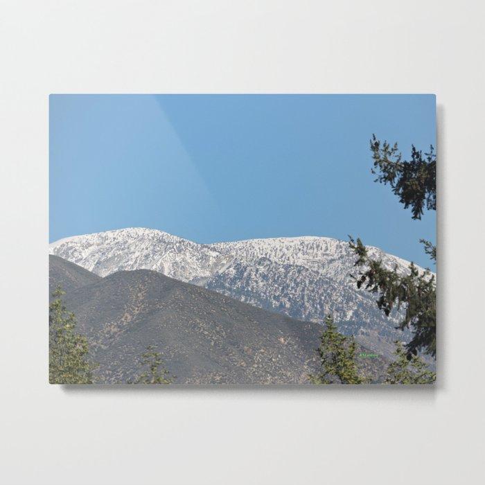 Southern California Snow Tease Metal Print