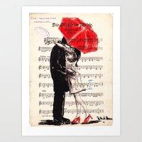 umbrella Art Prints featuring Umbrella by Krzyzanowski Art