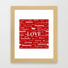 Love is Red & White Framed Art Print