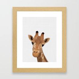 Safari nursery art, Giraffe print, Safari animals wall art, Baby giraffe Framed Art Print