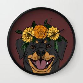 Pretty Pup Wall Clock