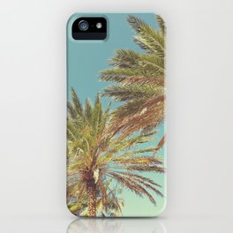 Retro Summer Palm Trees iPhone Case