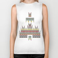 whisky Biker Tanks featuring WHISKY AZTEC  by Kiley Victoria