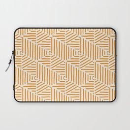 Geo Triangles - Orange Stripe Laptop Sleeve