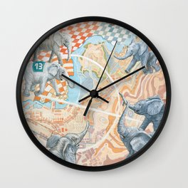 Elephant football game Wall Clock