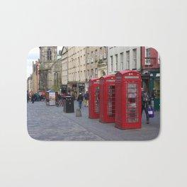 Telephone Booths Royal Mile Edinburgh Bath Mat