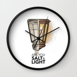 #2 Salt and Light Wall Clock