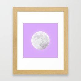 WHITE MOON + LAVENDER SKY Framed Art Print