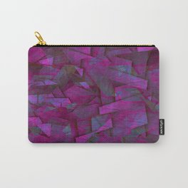 Fragments In Pueple - Abstract, fragmented pattern in purple Carry-All Pouch