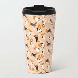 beagle scatter peach Travel Mug