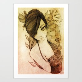 Remains of Lady Garden Art Print