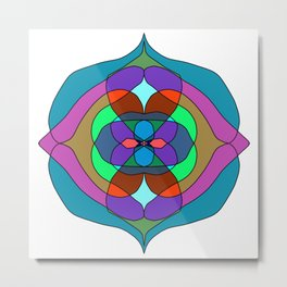 dark colors mandalas Metal Print