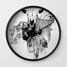 I Kill You Wall Clock
