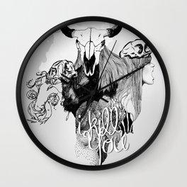 I Kill You Wall Clock