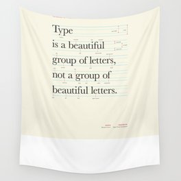 Typography Anatomy Wall Tapestry