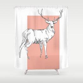 """""""En-bête-&-les-lignes"""" #01 Shower Curtain"""