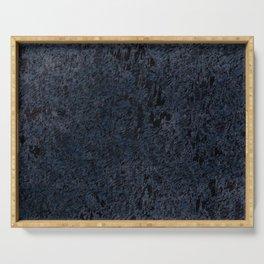 Grunge distressed dark blue Serving Tray