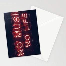 No Music No life Stationery Cards