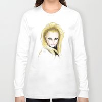 britney spears Long Sleeve T-shirts featuring Britney Spears Scream & Shout by Eduardo Sanches Morelli