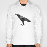 raven Hoodies featuring Raven  by mailboxdisco
